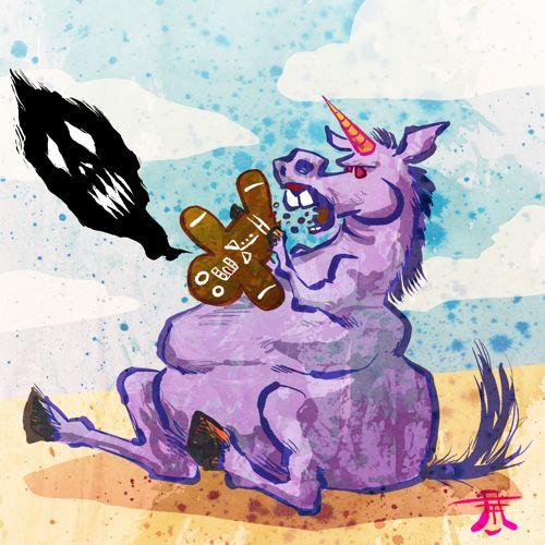 Free Art Friday - Fat Unicorn by Kim Holm