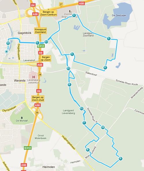 Route Vrijdag