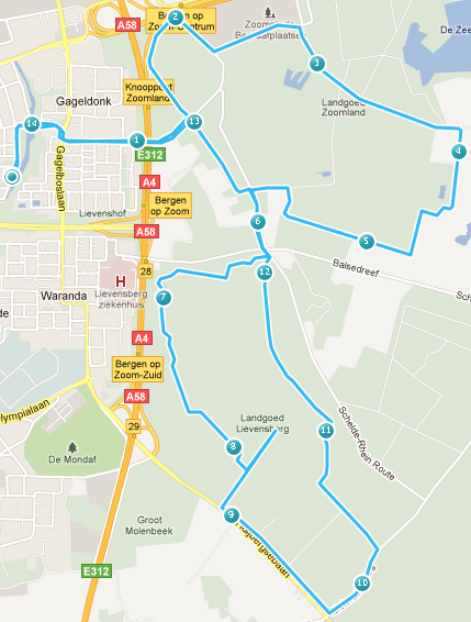 Route woensdag