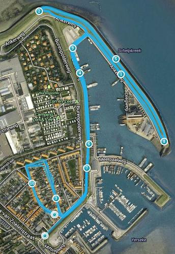parcours Sportvisserloop Yerseke 2013-06-26