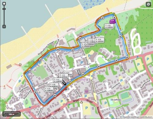 parcours Stratenloop Domburg 2013