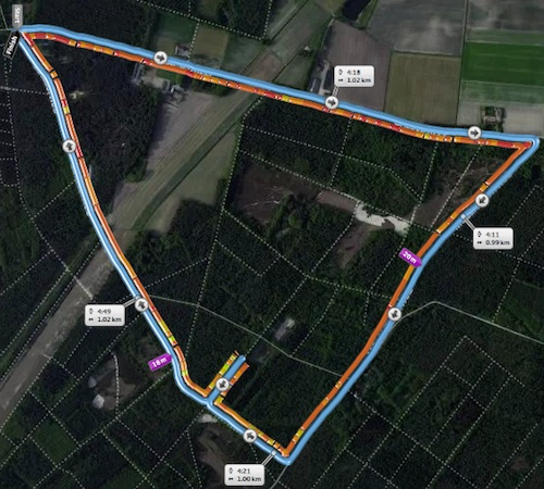 Route Kievitloop 2014-04-13