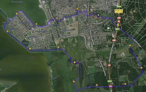Route Spado loopgroep Marathon 2014-04-10
