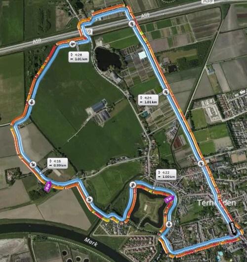 Parcours Terheijdenloop 18 mei 2014