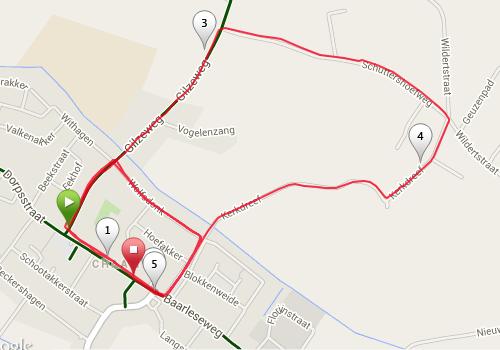 Chaamloop parcours 5 km