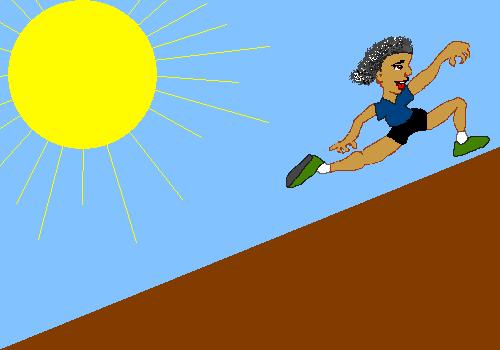 Heuvel op rennen