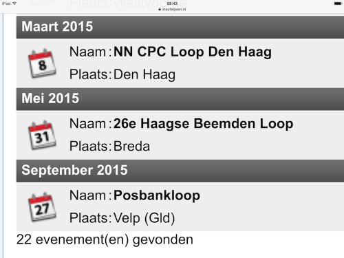 Inschrijven nl Posbankloop