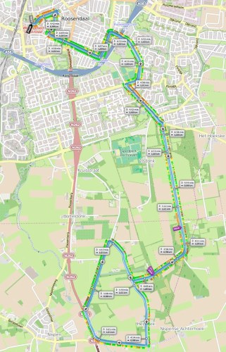 Parcours HM Roosendaal 2015 06 28