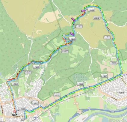 Parcours Posbankloop 2015 09 27